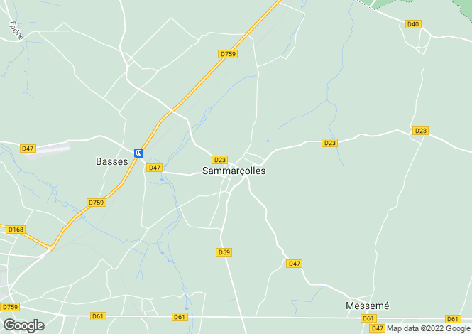 Map for sammarcolles, Vienne, France
