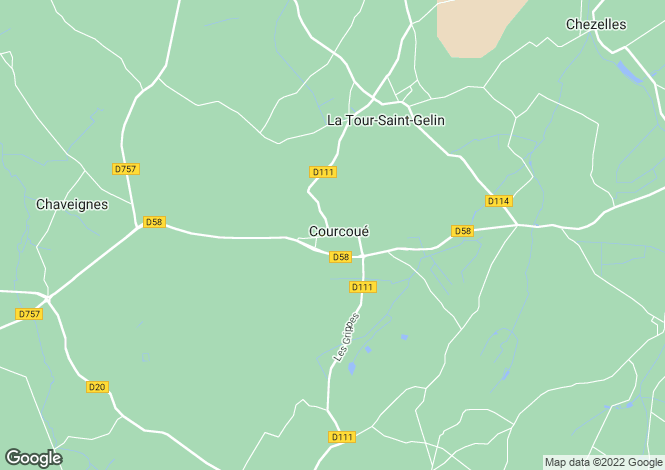 Map for COURCOUE, 37120, France