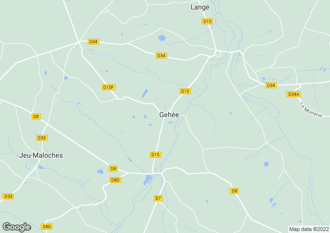 Map for Centre, Indre, Gehée
