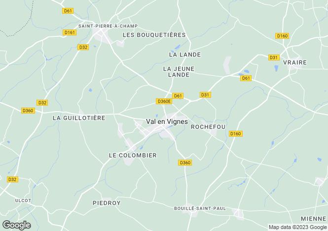 Map for cersay, Deux-Sèvres, France