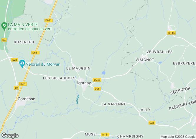 Map for IGORNAY, SAONE ET LOIRE