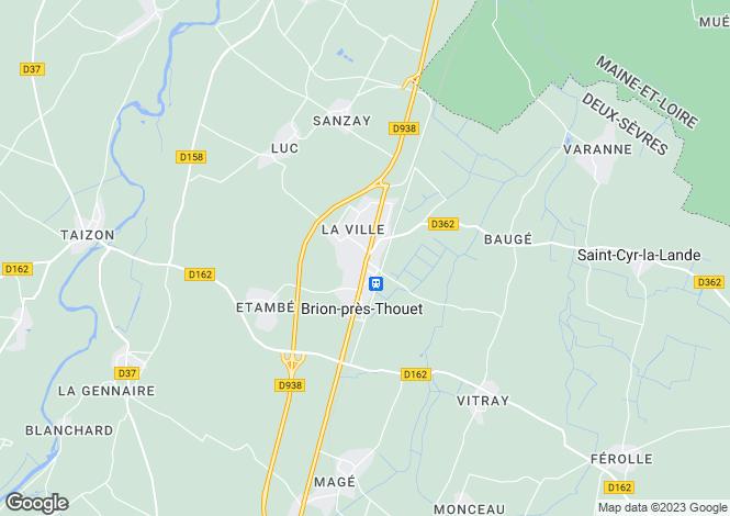 Map for Brion-près-Thouet, Deux-Sèvres, Poitou-Charentes