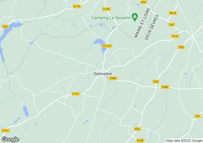 Map for genneton, Deux-Sèvres, France