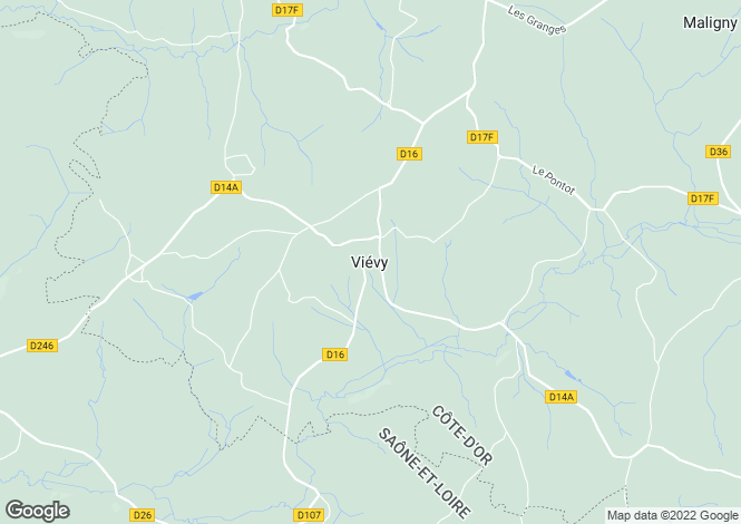 Map for Vievy, Bourgogne, 21230, France