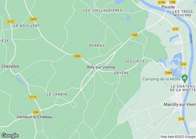 Map for rilly-sur-vienne, Indre-et-Loire, France