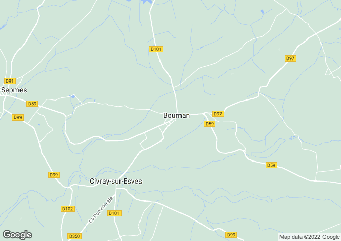 Map for Bournan, Indre-et-Loire, Centre