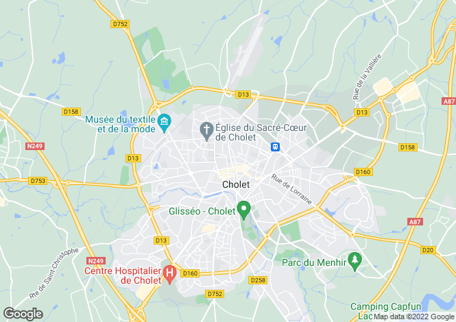 Map for cholet, Deux-Sèvres, France