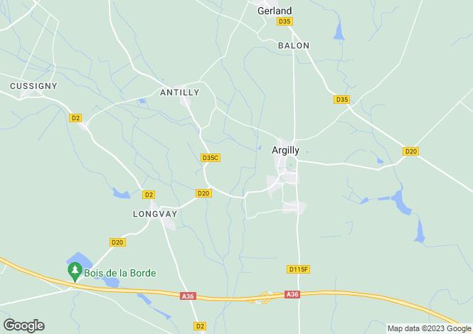 Map for Burgundy, Côte-d`Or, Argilly