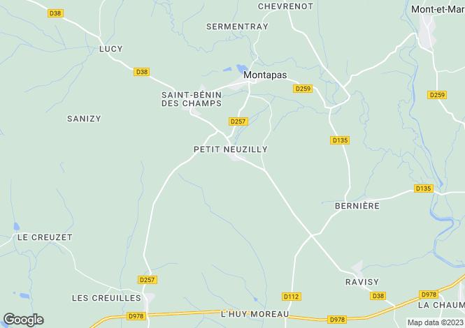 Map for Montapas, Bourgogne, 58110, France