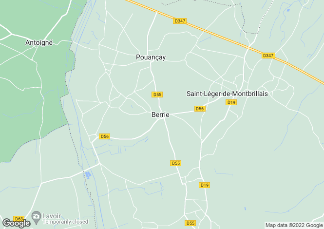 Map for berrie, Vienne, France