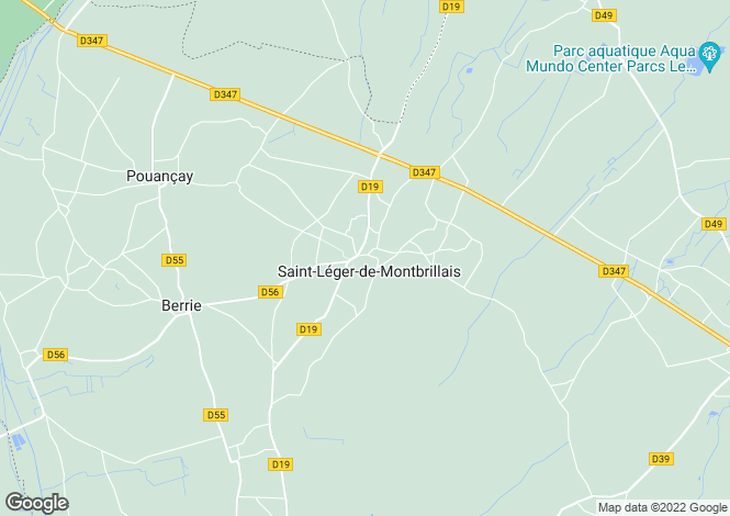 Map for Saint-Léger-de-Montbrillais, 86120, France