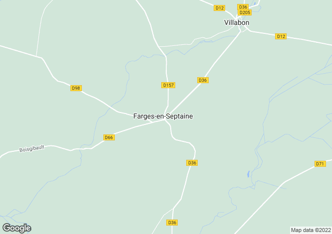 Map for farges-en-septaine, Cher, France