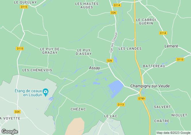 Map for ASSAY, 37120, France