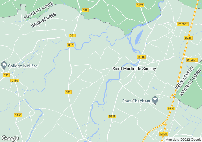 Map for bagneux, Deux-Sèvres, France