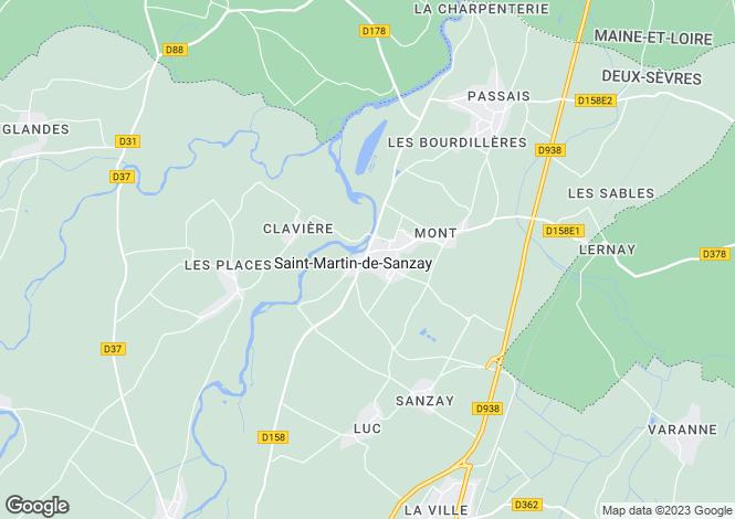 Map for Saint-Martin-de-Sanzay, 79290, France