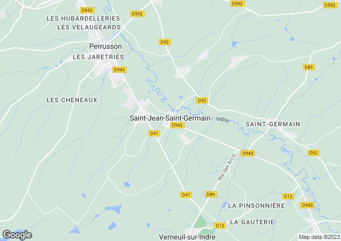 Map for st-jean-st-germain, Indre-et-Loire, France