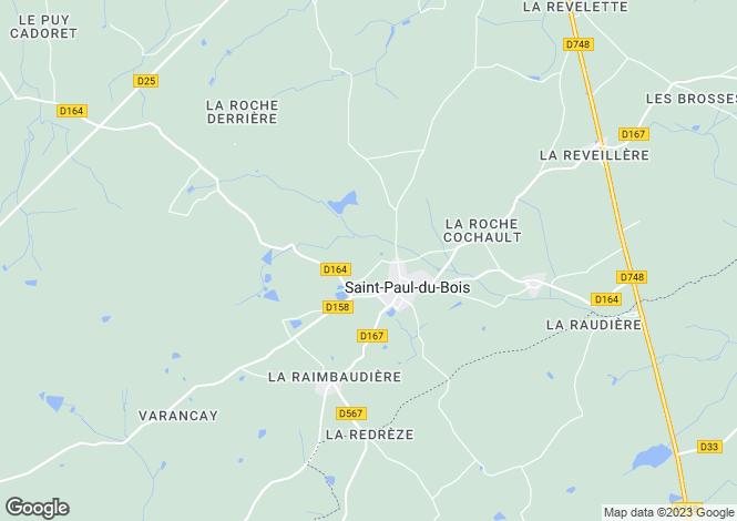 Map for st-paul-du-bois, Maine-et-Loire, France