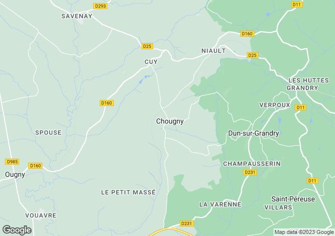 Map for Chougny, Bourgogne, 58110, France