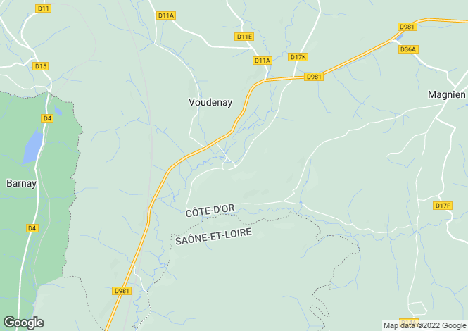 Map for VOUDENAY, COTE D'OR