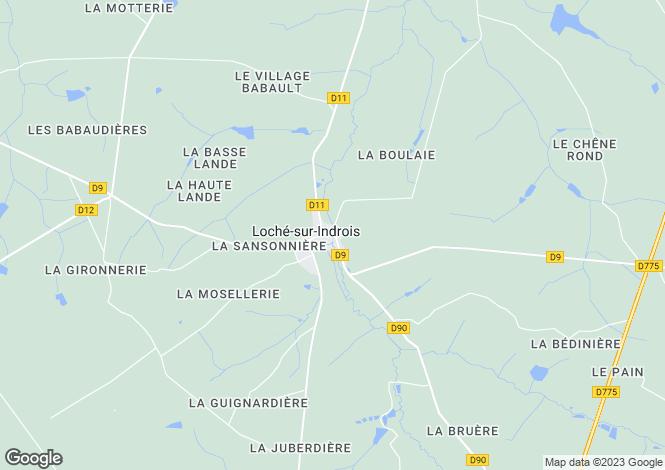 Map for Loché-sur-Indrois, Indre-et-Loire, Centre