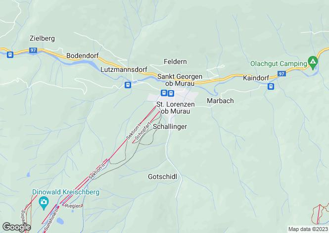 Map for Styria, Murau, St Lorenzen ob Murau