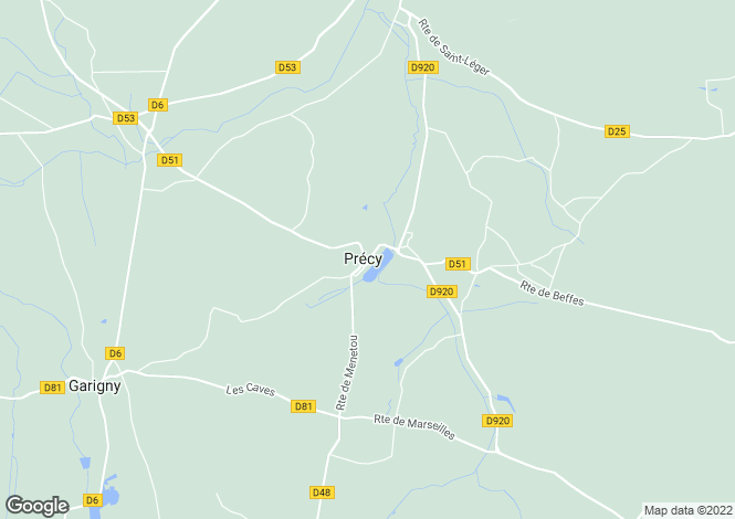 Map for precy, Cher, France
