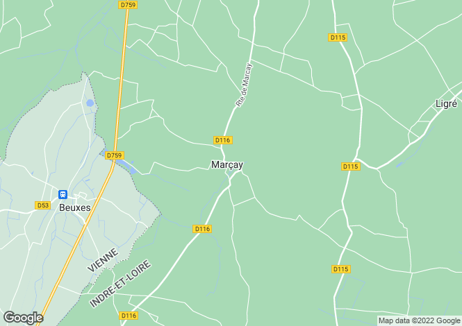 Map for MARCAY, 37500, France