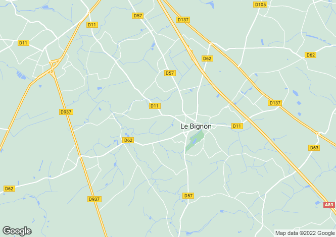 Map for le-bignon, Loire-Atlantique, France