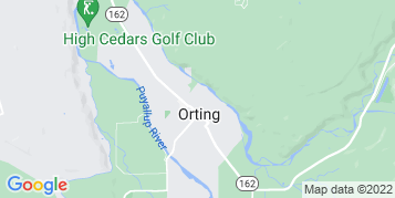 Orting Window Cleaning map