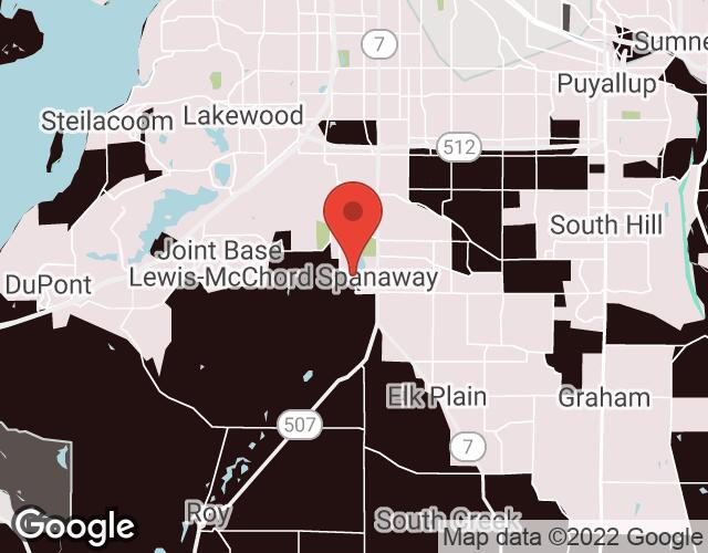 Spanaway map