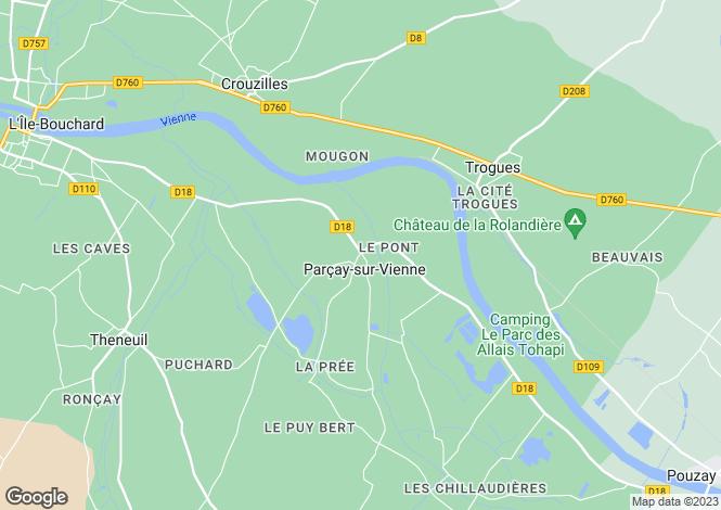 Map for Parçay-sur-Vienne, Indre-et-Loire, Centre