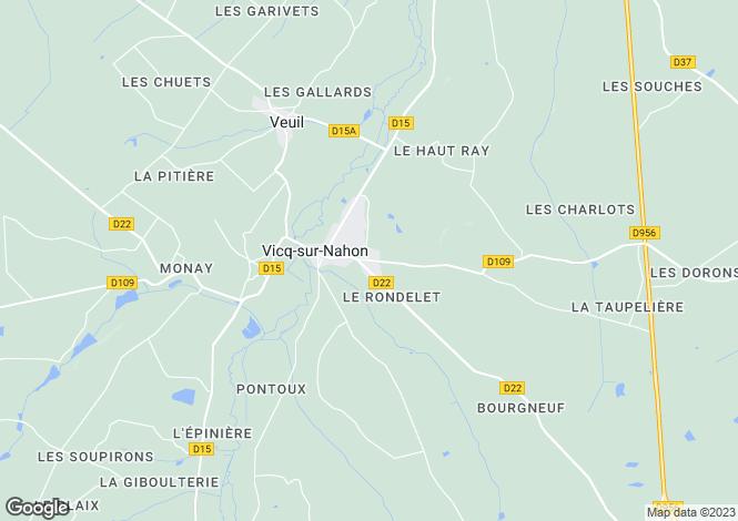 Map for vicq-sur-nahon, Indre, France
