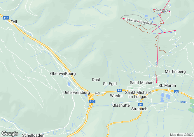 Map for Carinthia, Katschberg