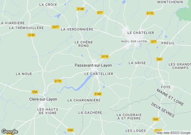 Map for passavant-sur-layon, Maine-et-Loire, France