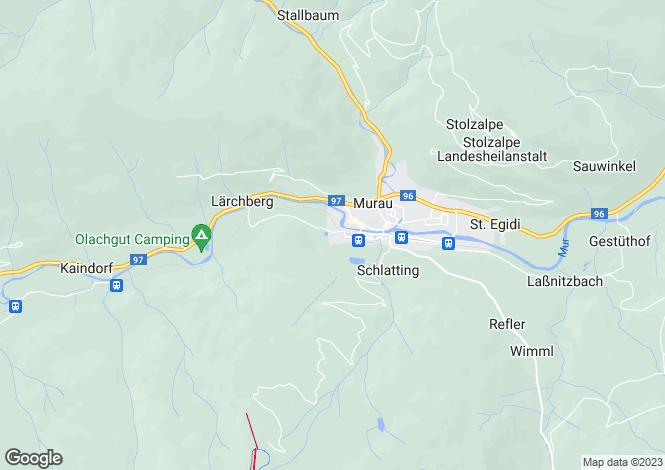 Map for Styria, Murau, Murau