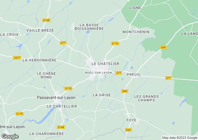 Map for nueil-sur-layon, Maine-et-Loire, France
