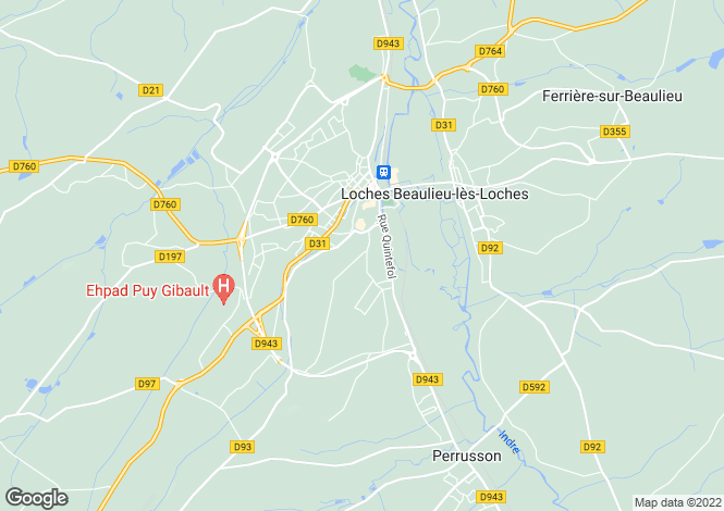 Map for Centre, Indre-et-Loire, Loches