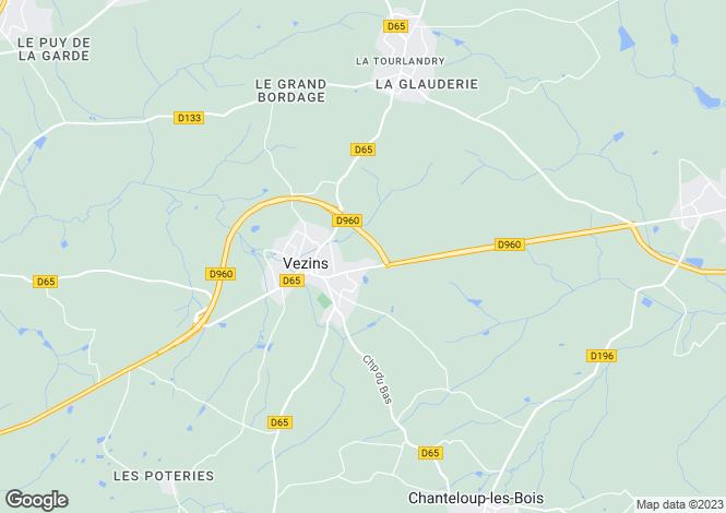 Map for vezins, Maine-et-Loire, France