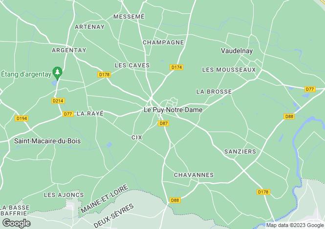 Map for Pays de la Loire, Maine-et-Loire, Le Puy-Notre-Dame