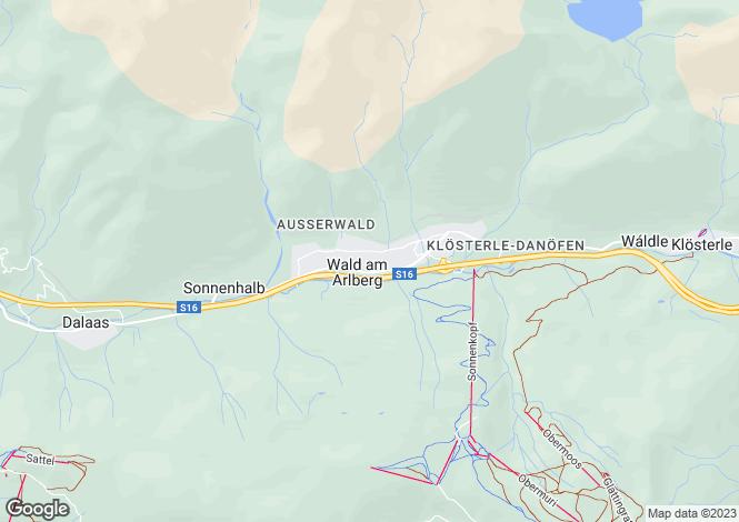 Map for Vorarlberg, Wald Am Arlberg