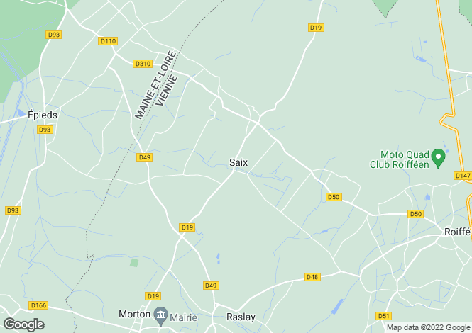 Map for Saix, 86120, France