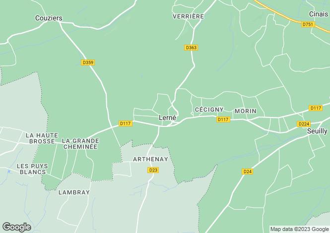 Map for lerne, Indre-et-Loire, France