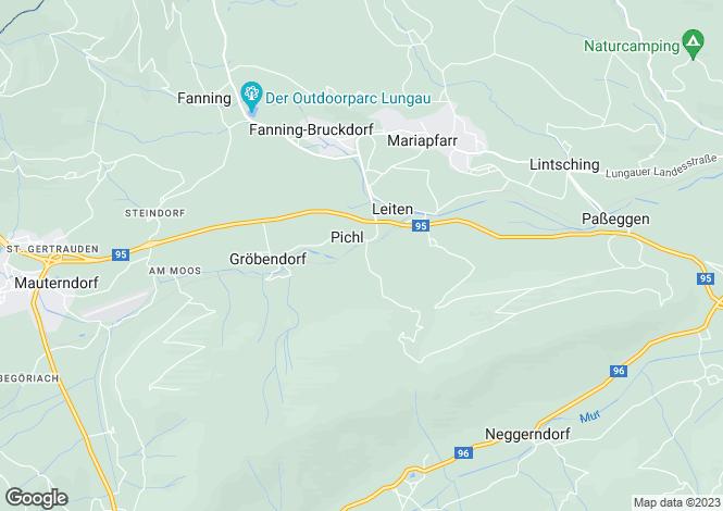 Map for Mariapfarr, Lungau, Salzburg