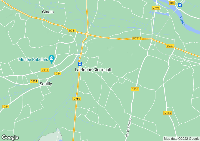 Map for LA ROCHE CLERMAULT, 37500, France
