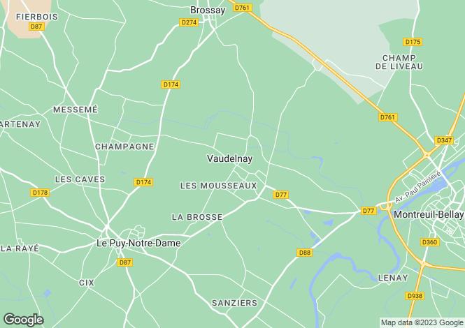 Map for vaudelnay, Maine-et-Loire, France