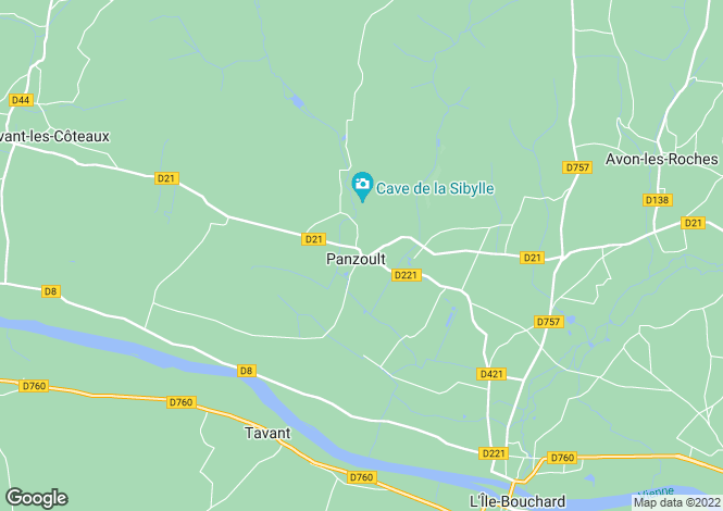 Map for panzoult, Indre-et-Loire, France