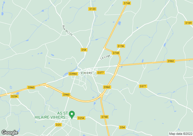 Map for vihiers, Maine-et-Loire, France