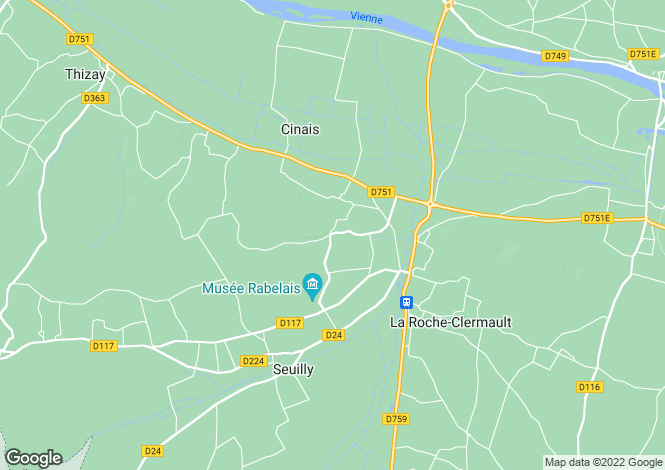 Map for cinais, Indre-et-Loire, France