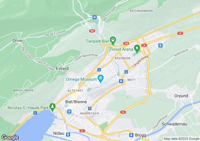 Map for Biel, Bern