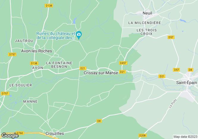Map for Crissay-sur-Manse, Indre-et-Loire, Centre